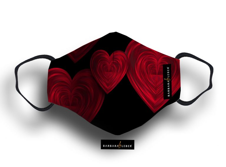 WASHABLE MASK - RED HEART